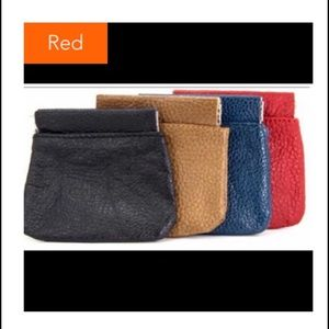 🎉3/$21🎉 Red Squeeze Coin Pouch